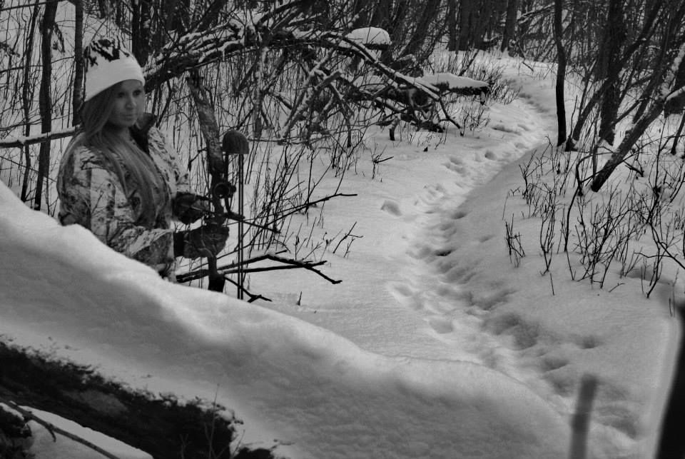 Women in the Outdoors Hunting Archery Bow hunting Snow