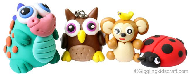 Cute Little Animals From Air Dry Clay