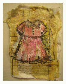 pink paper dress