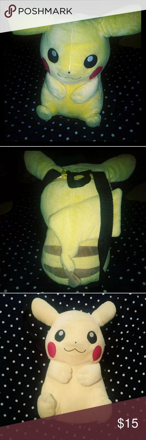 Plush Pickachu Pokemon Backpack # Muebles Pokemon