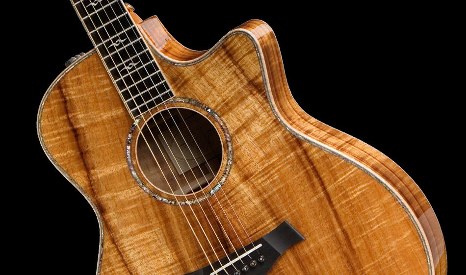 Koa Wood On A Taylor Even More Beauty Crammed Into Guitar Form Ps I Want This Soooo Badly Guitar Taylor Guitars Beautiful Guitars