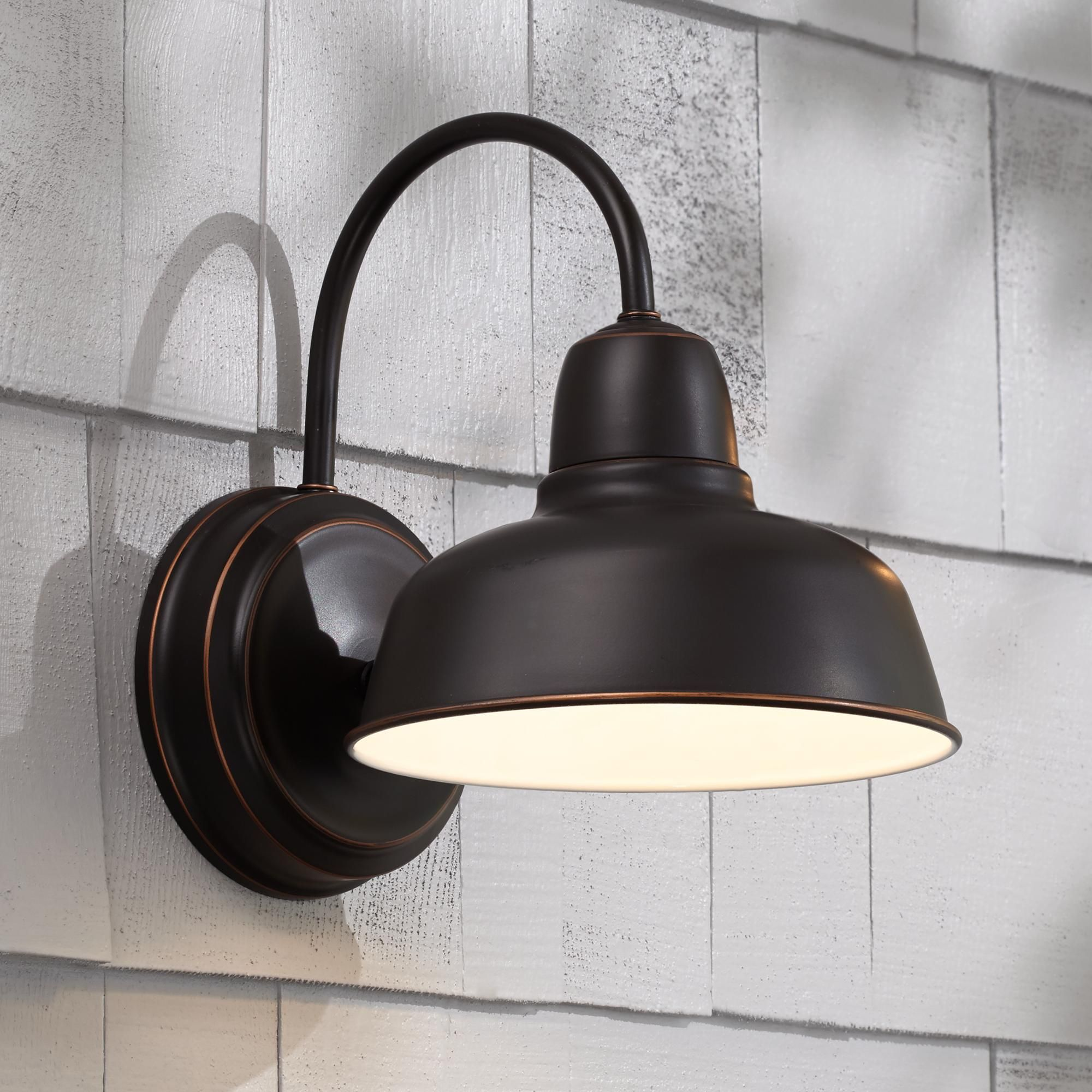 industrial style outdoor lighting. Add An Industrial Look To Your Decor With This Bronze Wall Light Fixture That Looks Great Style Outdoor Lighting N