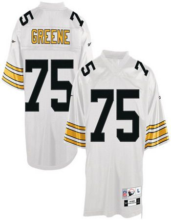 4f826449bf3 Throwback #75 White Joe Greene Pittsburgh Steelers jersey ID:95572803 $20
