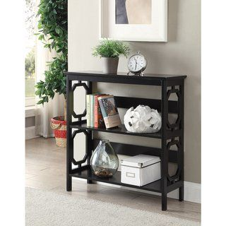 Copper Grove Hitchie 3 Tier Open Back Bookcase Black