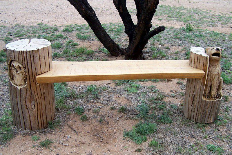 Tree Stump Bench Ideas Part - 18: Upcycled Tree Stump And Log Ideas