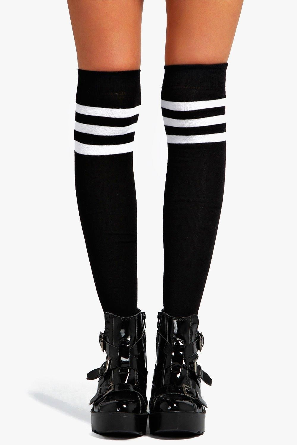 471bbbde7 Catherine Stripe Top Knee High Socks