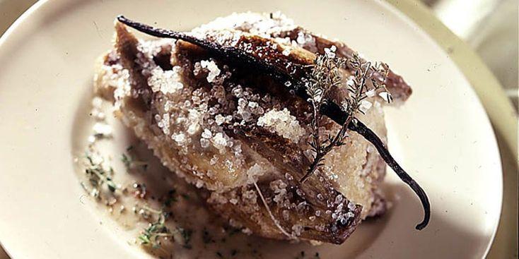 Pigeons en croûte de sel