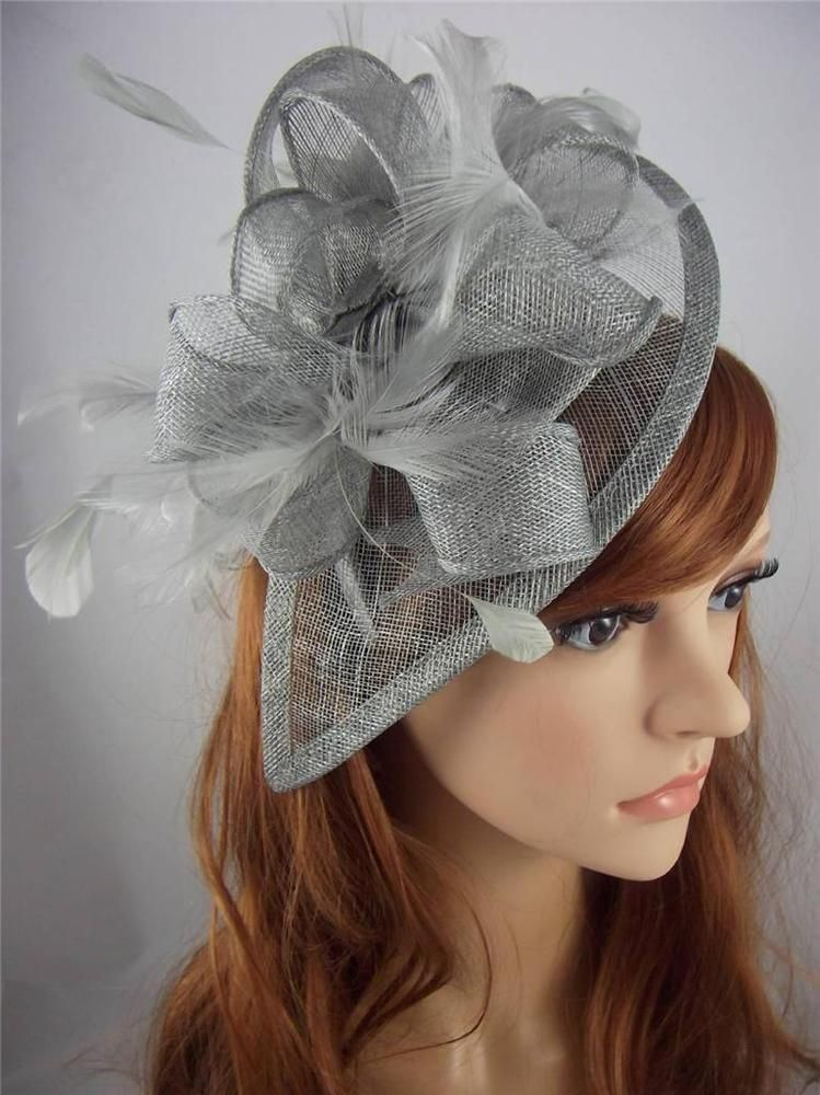 Silver Fascinators For Weddings  e876f64d005