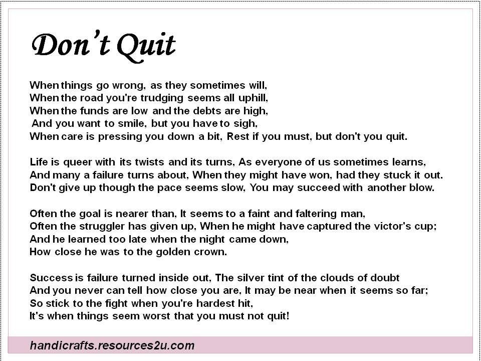 Encouragement Poems 1