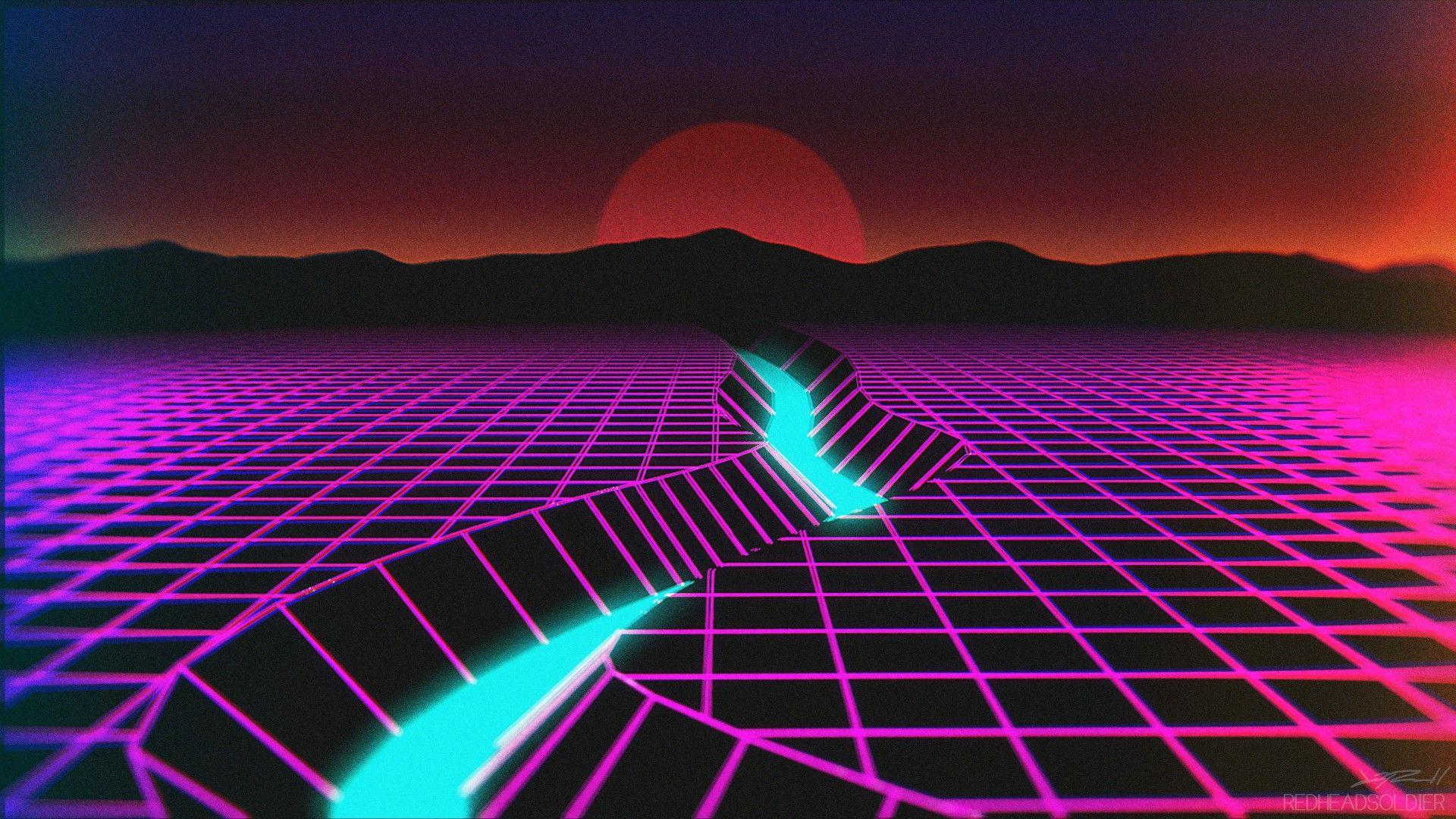 Image result for desktop backgrounds hd night vaporwave | Desktop Backgrounds | Vaporwave, Retro ...
