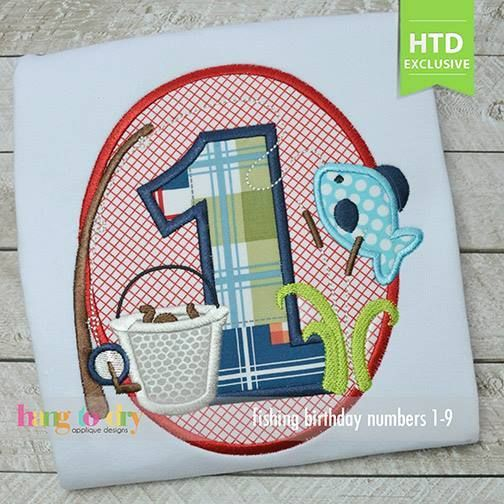 Fishing Numbers Set - Hang to Dry Applique