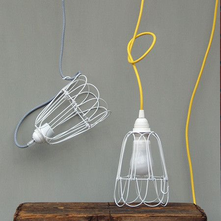 White wire cage lampshade from ruby roost interior pinterest house white wire cage lampshade mozeypictures Choice Image