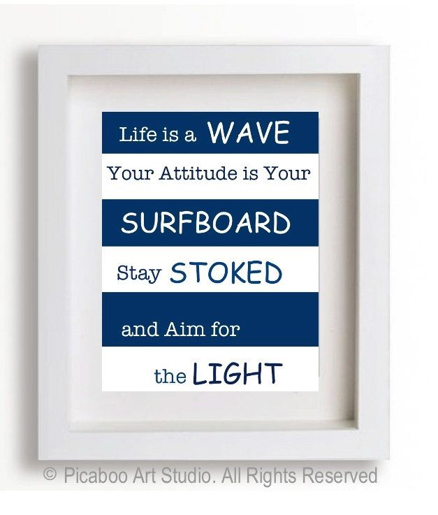Boy Room Art Inspirational Quotes For Boys Surfer Boy