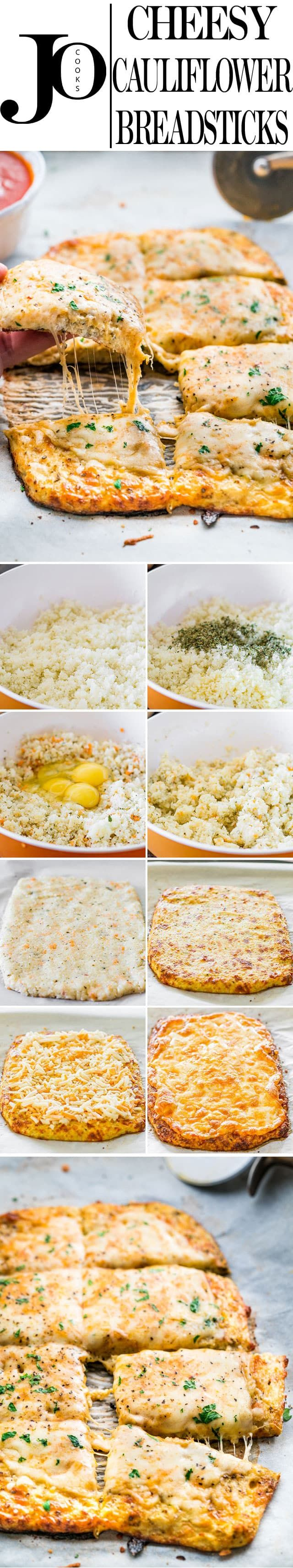 21 Filling Low Carb Recipes With No Meat Cauliflower Breadsticks