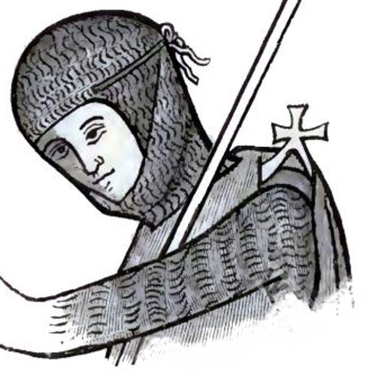 Prostrando-se diante da relíquia sagrada, o rei Balduíno IV pediu a Deus pelo sucesso.