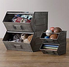 Baskets, Bins & Toy Storage   Restoration Hardware... playroom storage