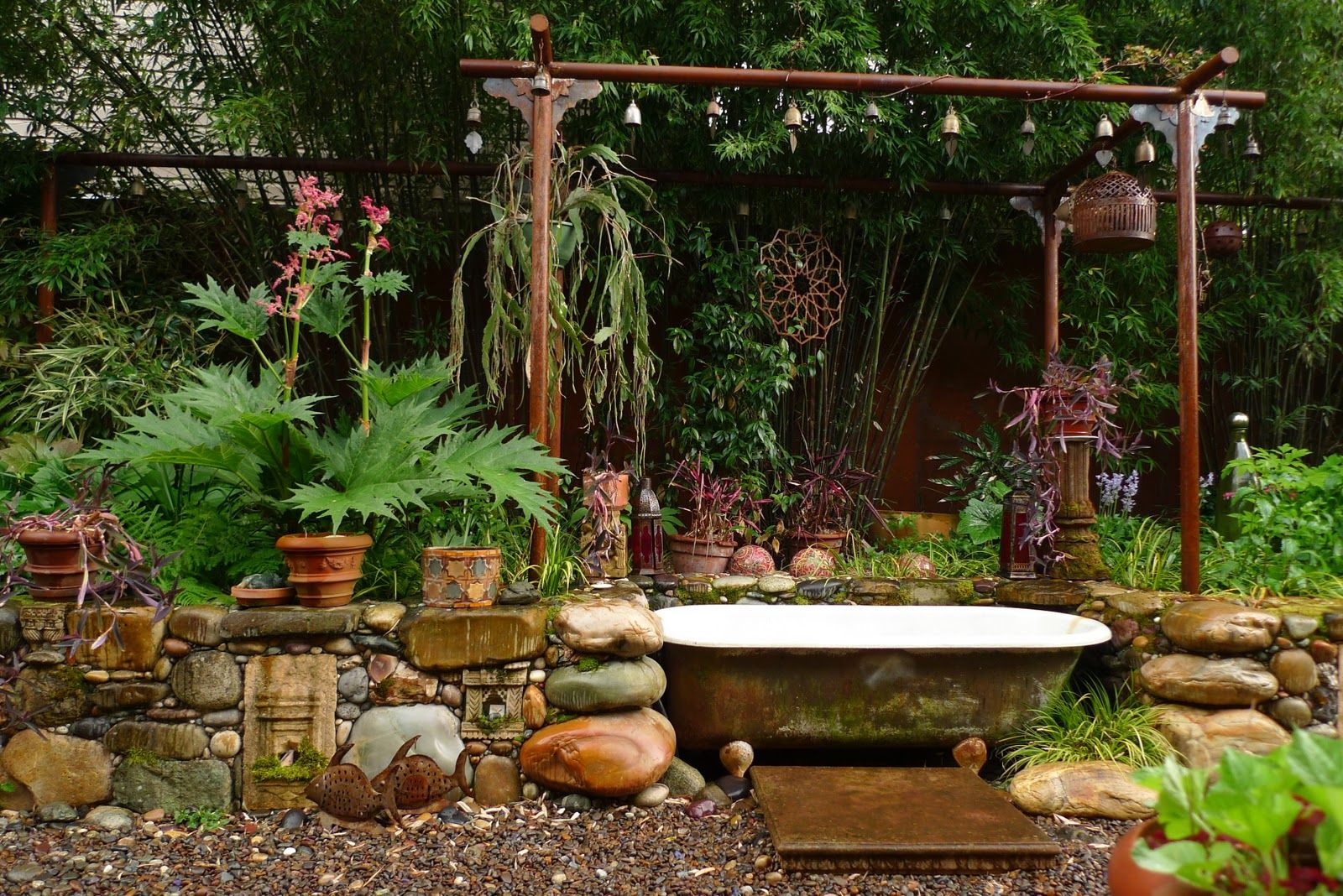 Bathing in the Garden (from Jeffrey Bale\'s World of Gardens ...