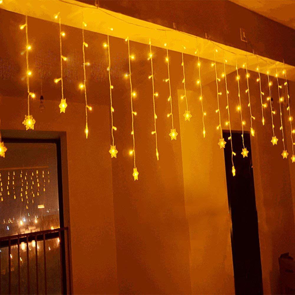 Weihnachtsdeko Lichter Innen.Led Lichtervorhang Lichter Led Lichterkette Weihnachtsbeleuchtung