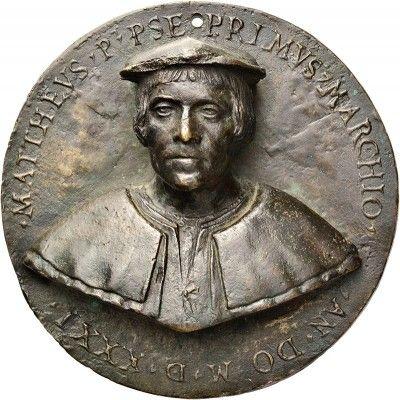 Portrait medallion of Matteo Barresi, by Antonello Gagini. 1531