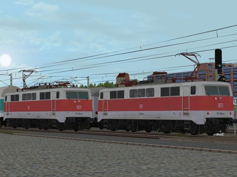 E-Loks BR 111 S-Bahn (or Bauchbinde) der DBAG Ep.V