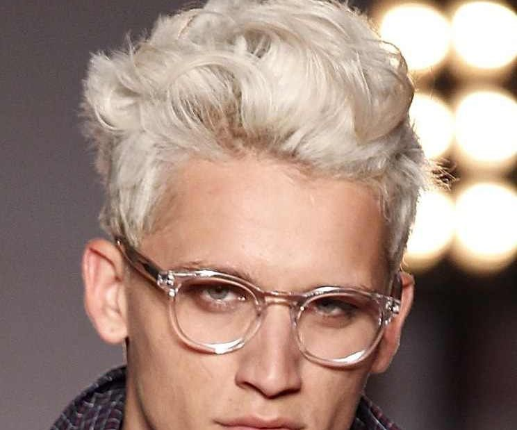 Guys With Dyed Light Hair Platinum Blonde Hair Men Short
