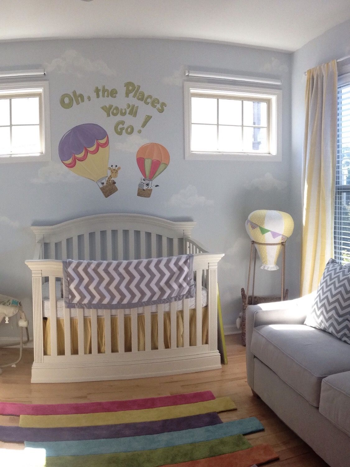 Nursery Decor, Hot Air Balloon, Oh the places you'll go