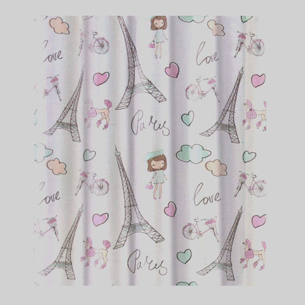 Unique French Shower Curtain