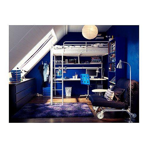 Troms estructura cama alta 140x200 cm ikea loft for Estructura cama 90x190