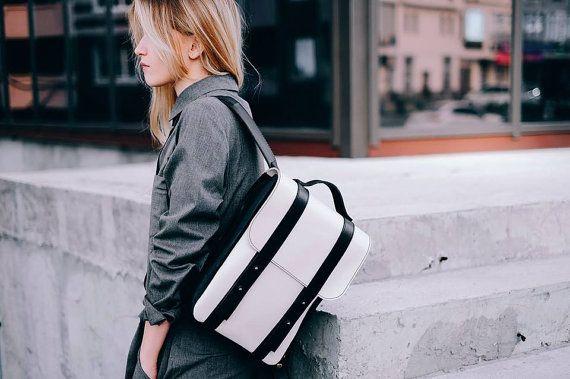 Mochila de cuero hechos a mano mochila mujer por MoonshineLeather