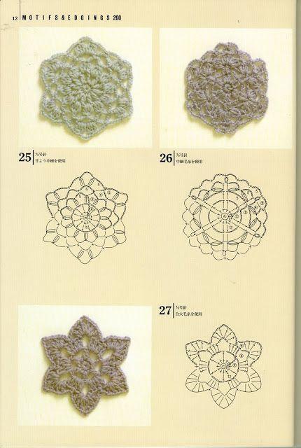 Japanese Crochet Motifs Patterns Thru Page 13 Crochet