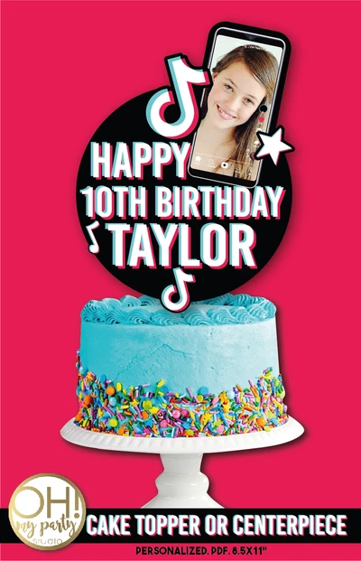 Tiktok Cake Topper Cake Toppers Birthday Cake Toppers Cupcake Toppers Free