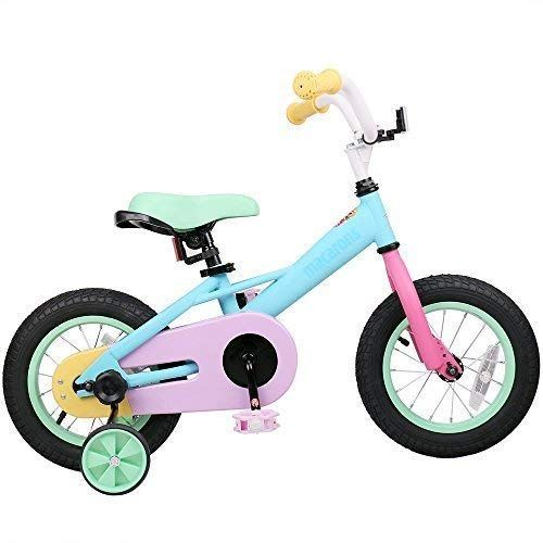 c5e829f1f95 JOYSTAR Macaron 14 Inch Kids Bike for 3 4 5 Years Girls, Child Bicycle with  Training Wheels & Coaster Brake for 3-5 Years Kids, 85% Assembled (14 inch)