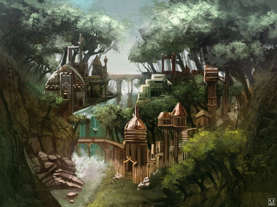 hobbit fantasy forest trees - photo #21