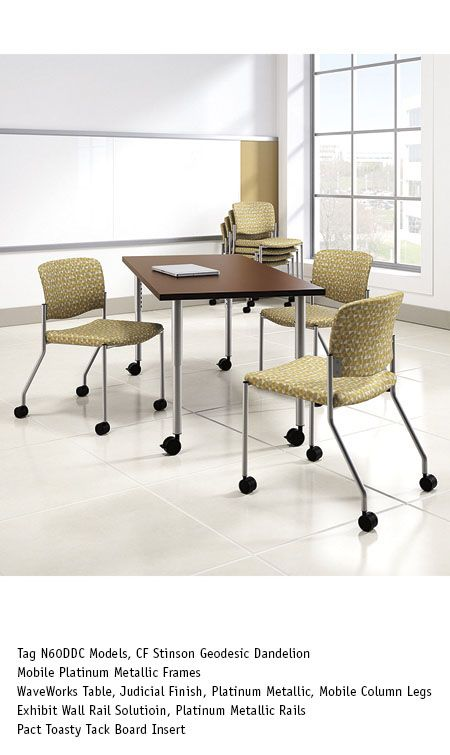 National Office Furniture Waveworks Table With Tag Mobile Side Guest Seating In Conference Room Area