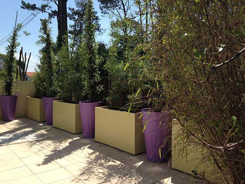 jardinieres et coniques pour brise-vue | exterieur | Pinterest ...