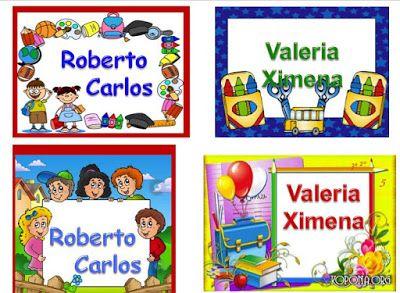 Gafetes Para Niños Diseños De Gafetes Numero 3 Didactico