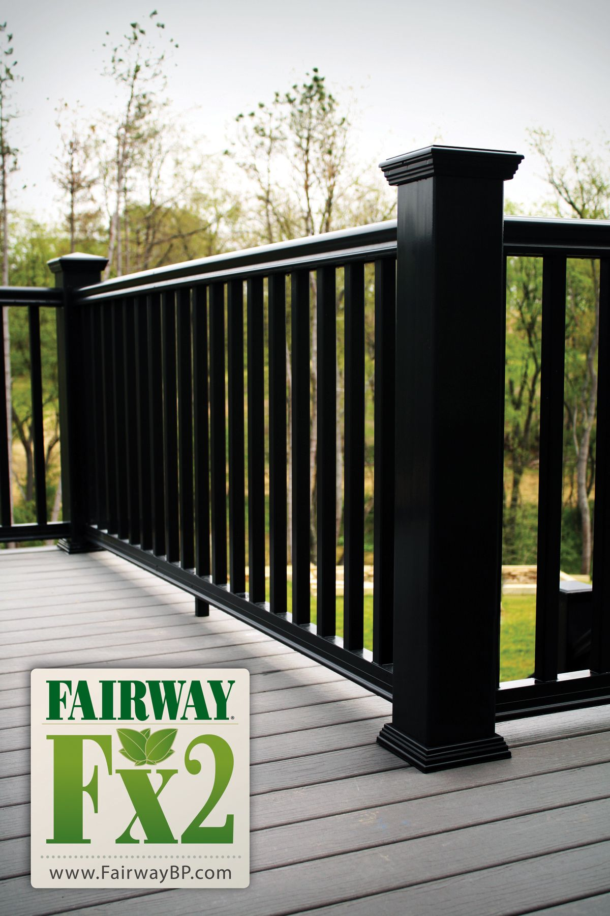 Porch and deck railing vinyl composite aluminum for Composite decking and railing