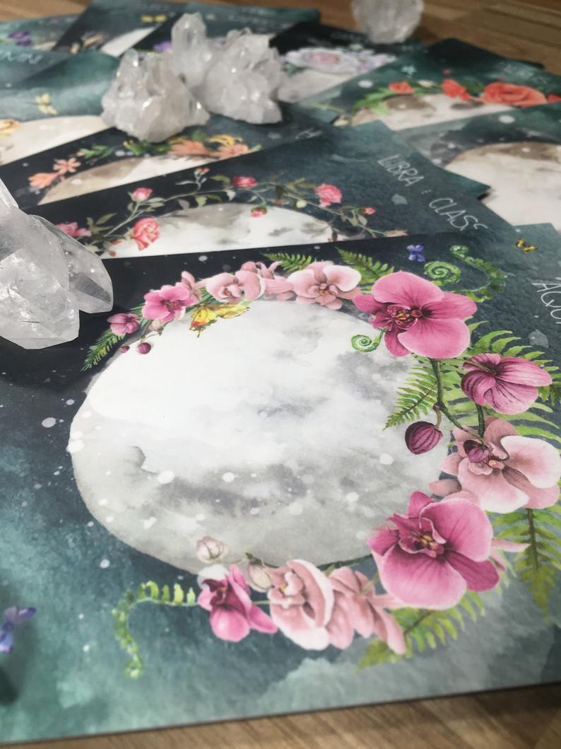 full moon altar cards zodiac altar cards full flower