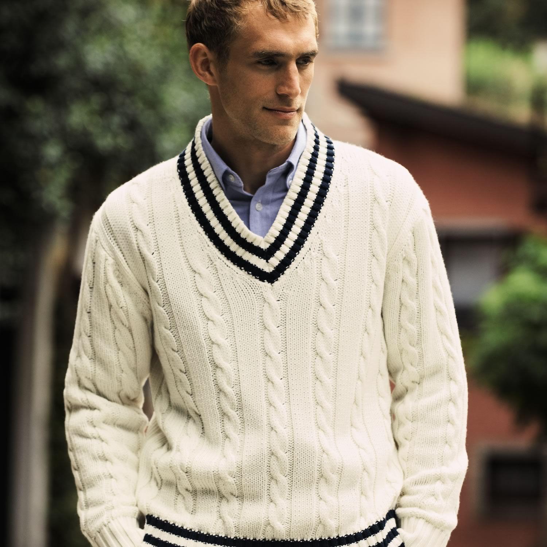 226a8711f52166 Cream cricket jumper | Mens knitwear from Charles Tyrwhitt | CTShirts.com