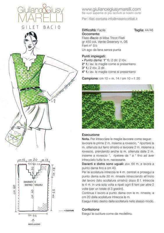 scollatura scalare | Knitting | Pinterest | Tejido