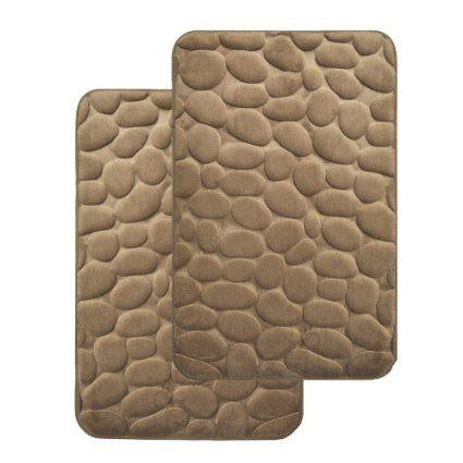 Mocha Brown Memory Foam Bath Mat Set Set Of 2 Mats Day Spa Non