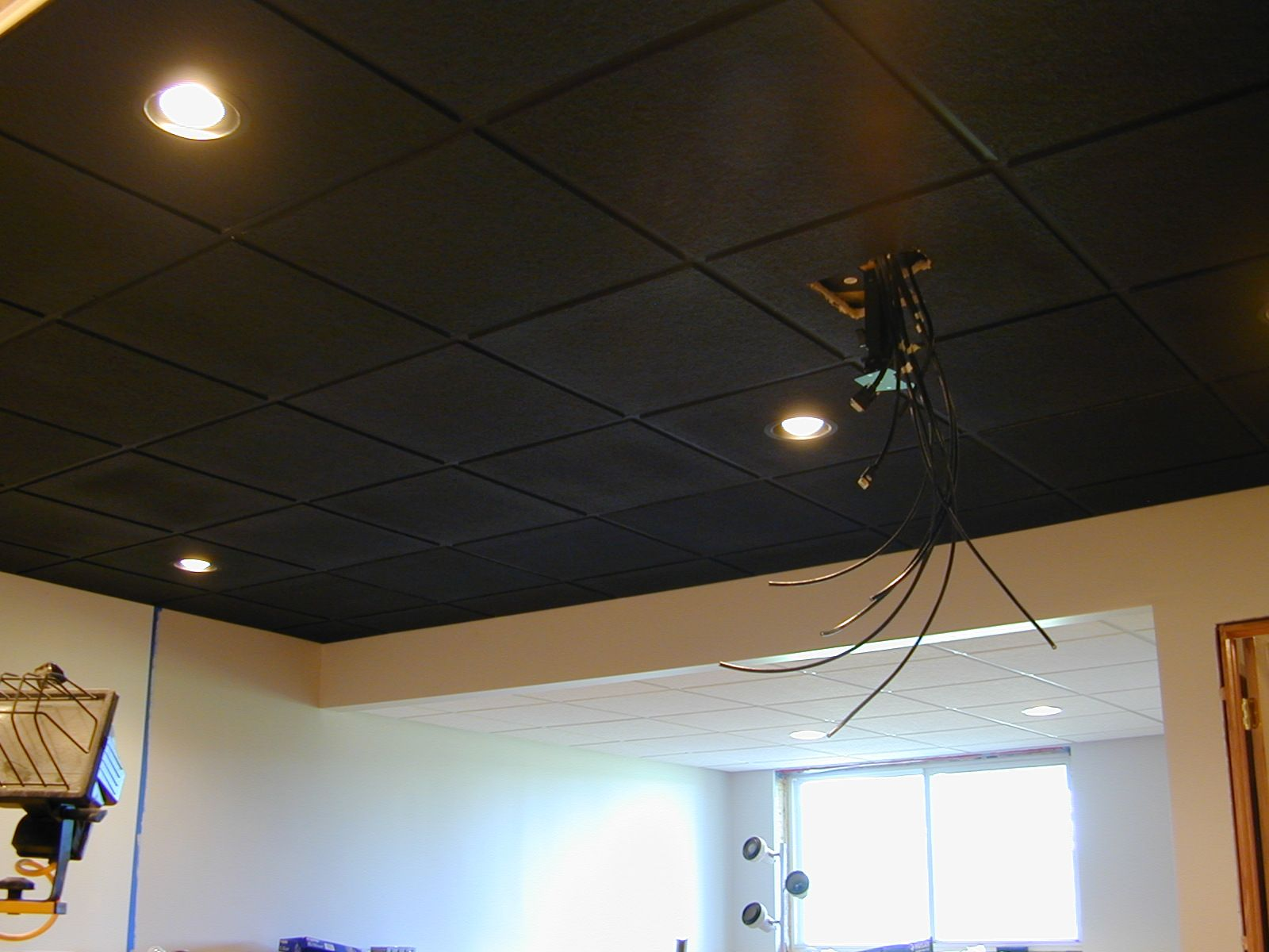 Spray Paint Ceiling Tiles Black Snakepress Com