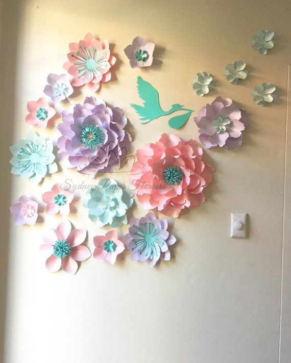 Gender Reveal Party Paper Flower By Sydneypaperflowers On Etsy