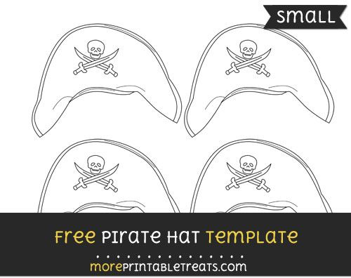 Free Pirate Hat Template - Small Pirate Party Printables