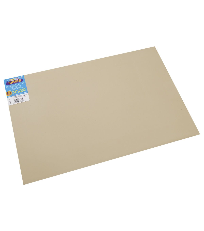 Darice Foamies Extra Thick Foam Sheet 2mm 12''X18'' - Tan