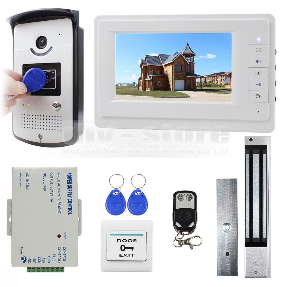 Diysecur 7 Inch Video Door Phone Entry System 700tvl Camera Monitor