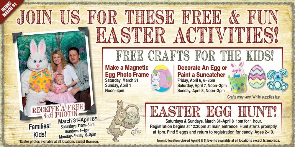 Free photo with the Easter Bunny at Bass Pro Shop!