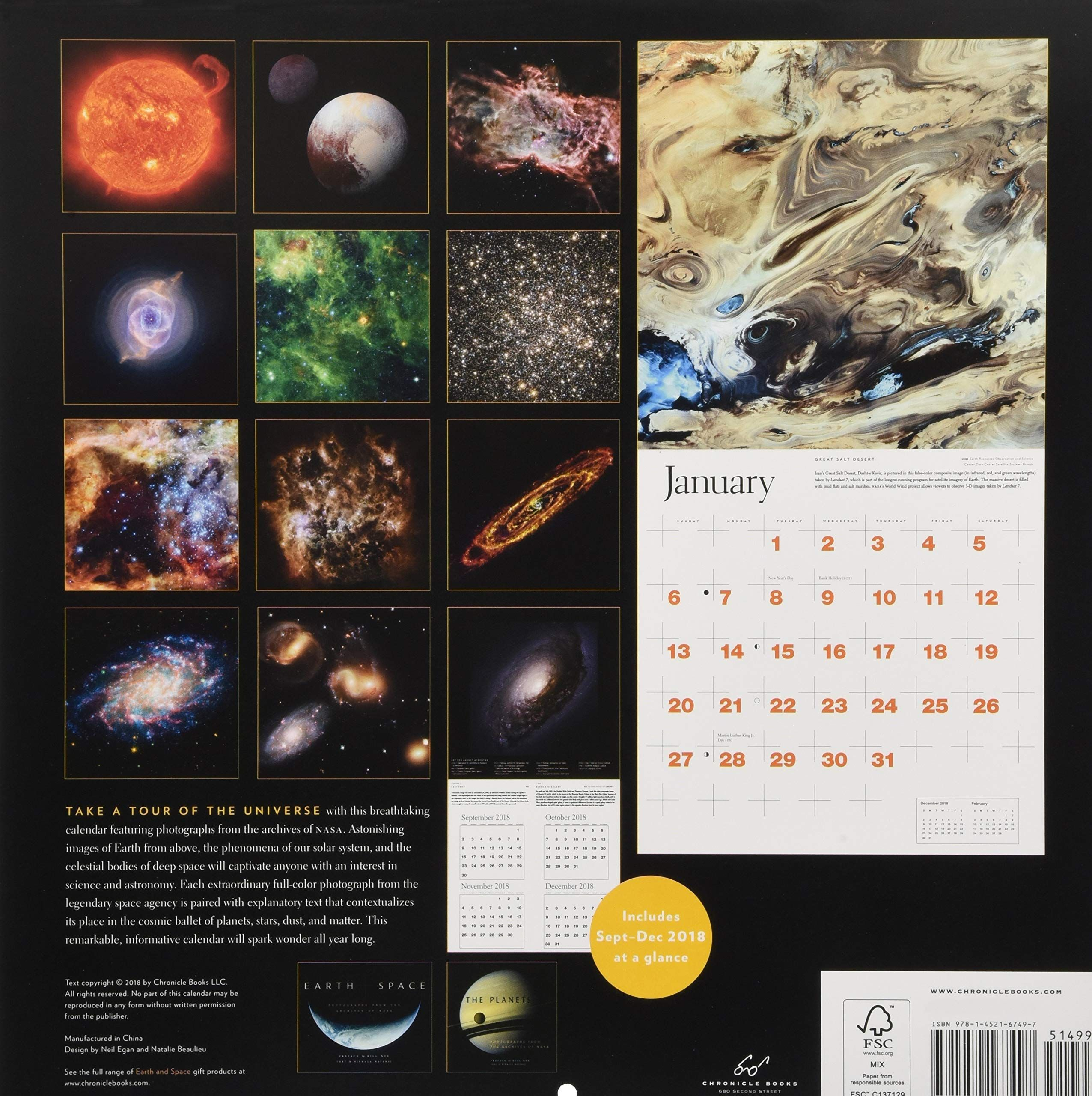 Earth and Space 2019 Wall Calendar