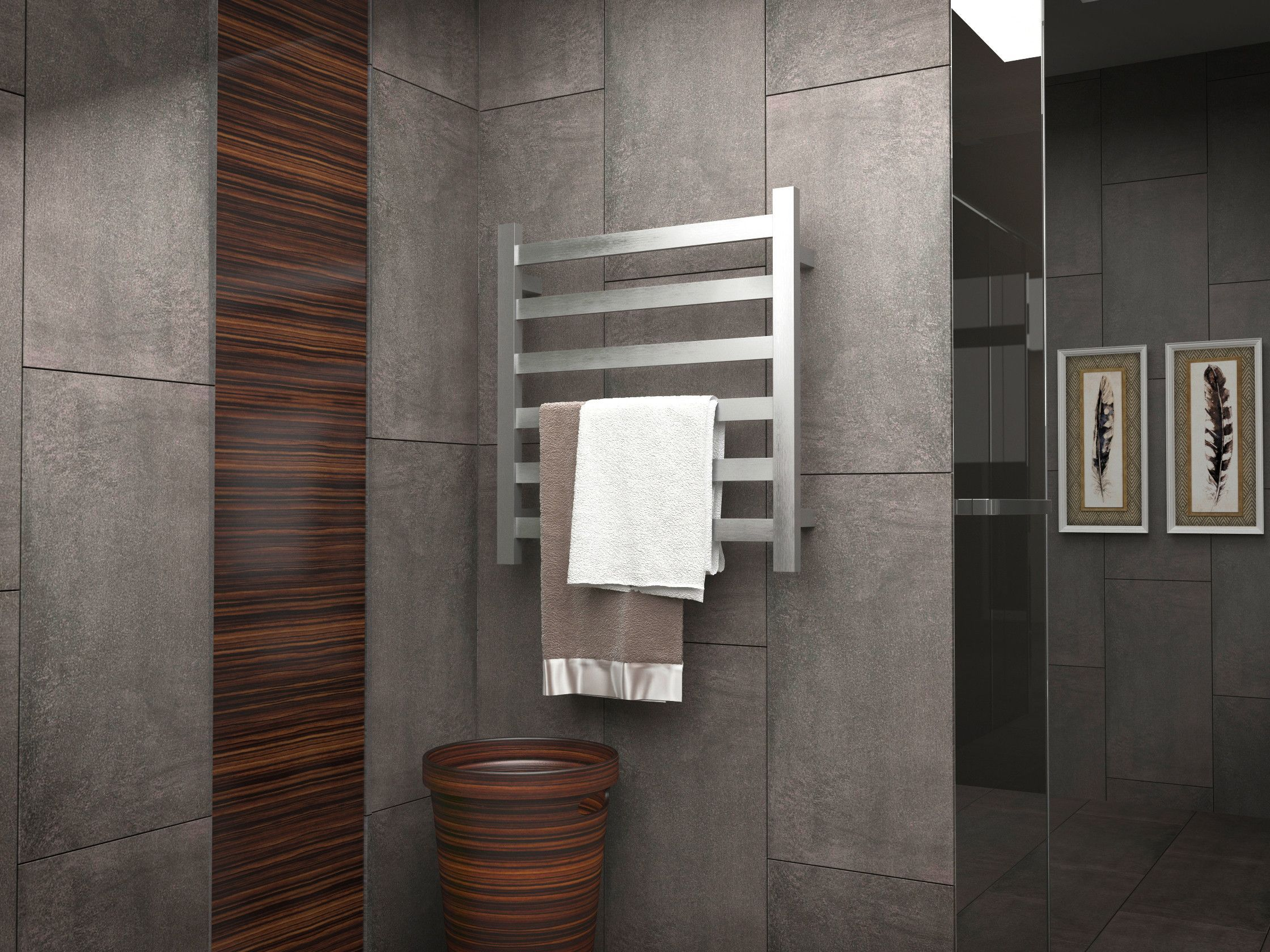 Note 6 Bar Stainless Steel Wall Mounted Electric Towel Warmer Rack