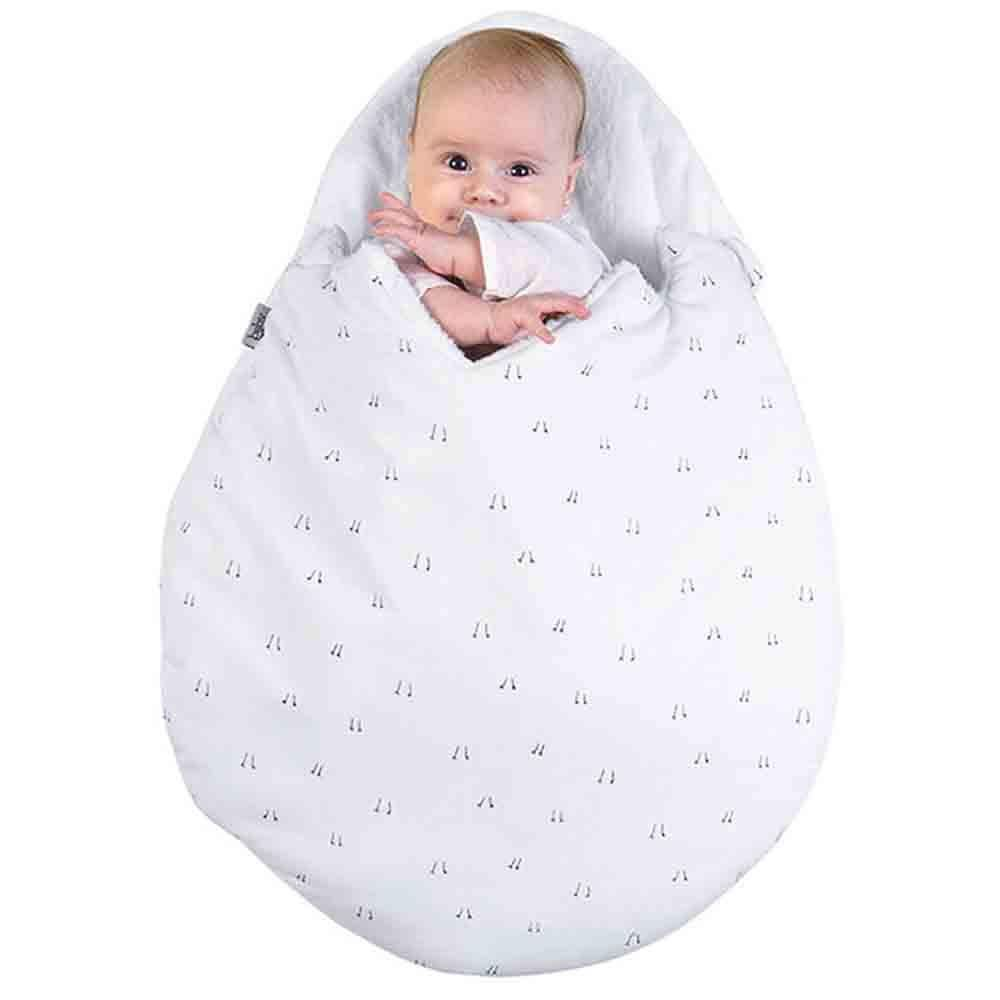 e845d1391 Cute Egg Shape Thickening Baby Bunting Bag - CRYSTAL CREAM